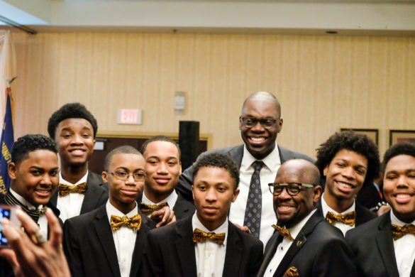 Lt. Gov. Garlin Gilchrist with members of the Alpha Esquires
