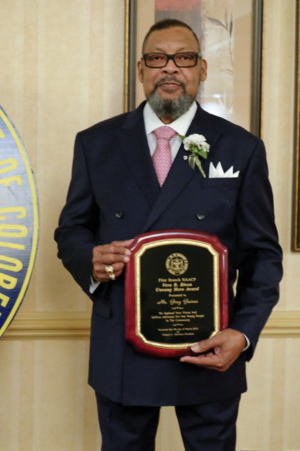 Gregory Gaines, Vera B. Rison Unsung Hero Award