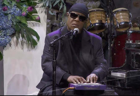 Stevie Wonder closed out the ceremony performing one of Nipsey's favorite songs.