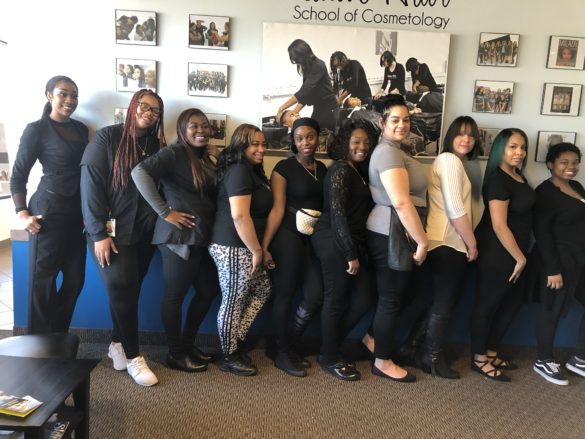 Students currently enrolled at Creative Hair School of Cosmetology.